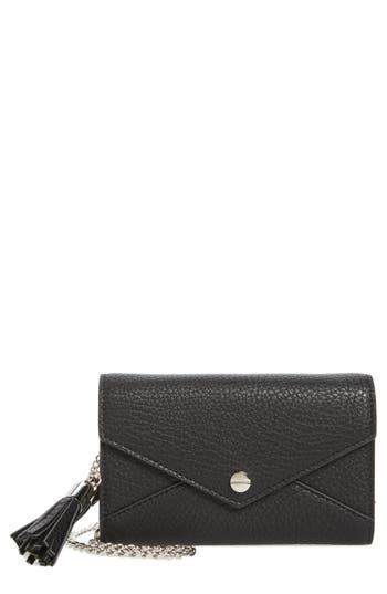 Mali + Lili Tassel Convertible Faux Leather Envelope Clutch -