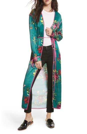 Women's Free People Kimono Duster, Size X-Small - Green