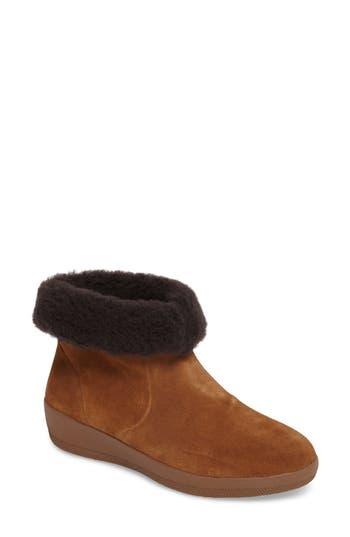 Fitflop Skate Genuine Shearling Cuff Boot, Brown