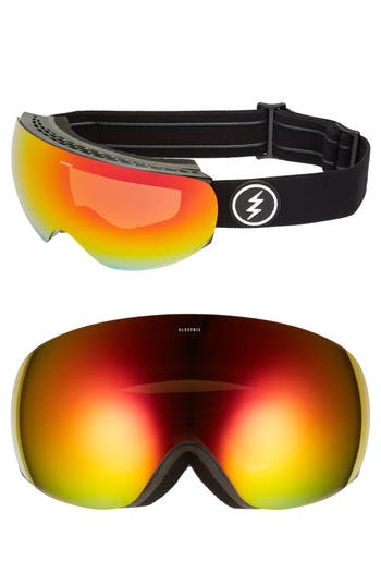Women's Electric Eg3.5 Snow Goggles - Gloss Black/ Red Chrome