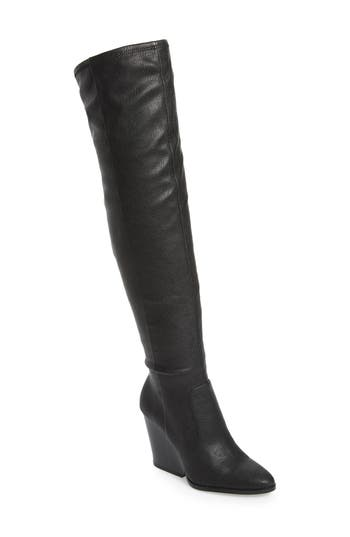 Women's Calvin Klein Catia Over The Knee Boot, Size 5 M - Black
