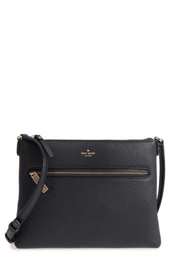 Kate Spade New York Hopkins Street - Gabriele Leather Crossbody Bag - Black