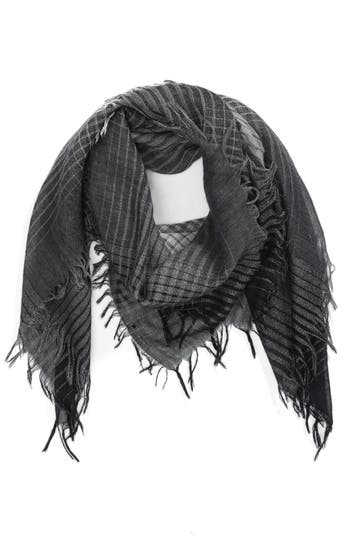 Women's Eileen Fisher Sparkle Check Wool Blend Scarf