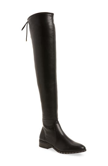 Topshop Dollar Over The Knee Boot - Black