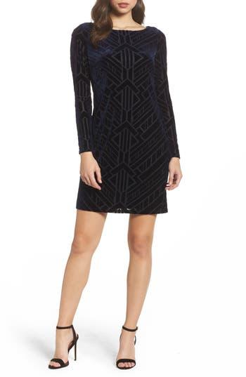 Women's Vince Camuto Velvet Burnout Sheath Dress