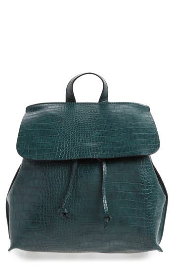 Sole Society Selena Faux Leather Backpack - Green