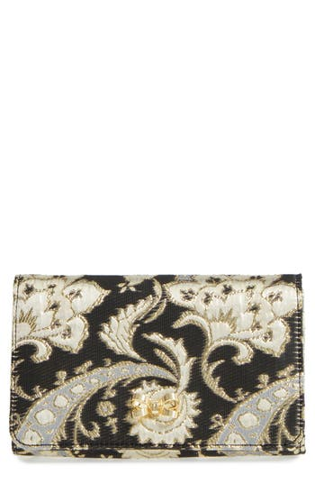 Ted Baker London Paisley Bow Clutch - Black