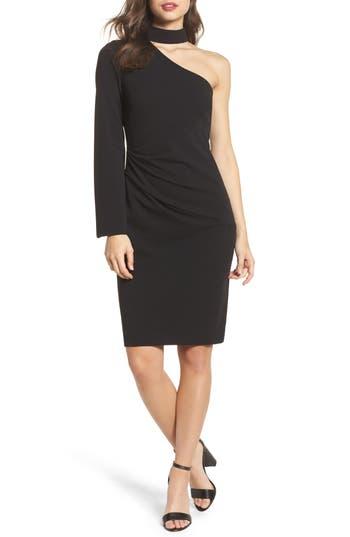 Vince Camuto Choker One-Shoulder Dress, Black