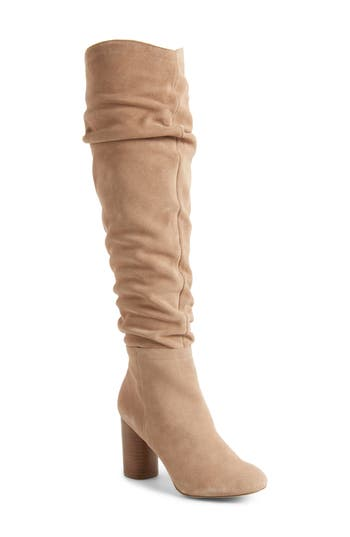 Sole Society Bali Slouchy Over The Knee Boot, Brown
