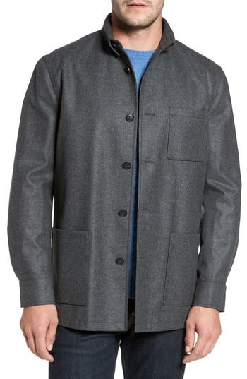 Men's David Donahue Loro Piana Storm System Shirt Jacket