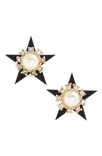 Women's Cara Star Imitation Pearl Stud Earrings