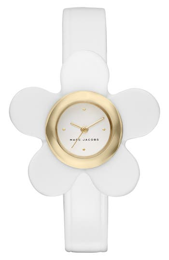 Women's Marc Jacobs Daisy Leather Strap Watch, 20Mm
