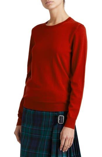 Burberry Viar Merino Wool Sweater, Red