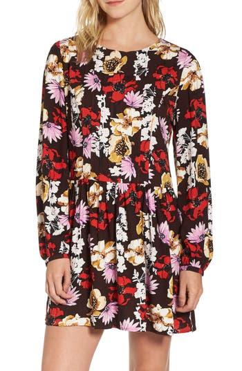 Women's Hinge Pintuck Minidress, Size XX-Small - Burgundy