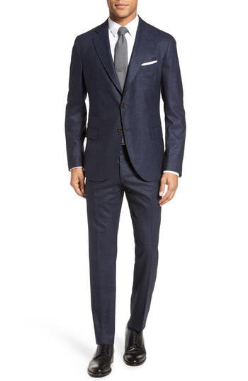 Eleventy  CLASSIC FIT SOLID WOOL SUIT