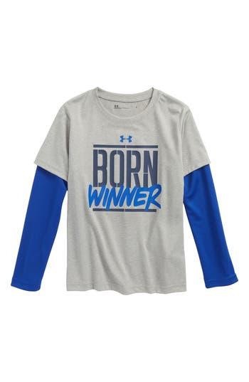 Boy's Under Armour Born Winner Slider Layered T-Shirt