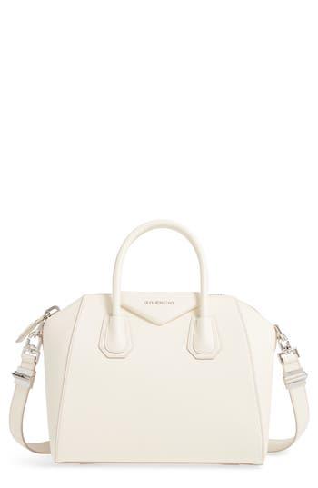 Givenchy 'Small Antigona' Leather Satchel - Ivory