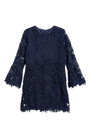 Girl's Bardot Junior Monroe Bell Sleeve Lace Dress