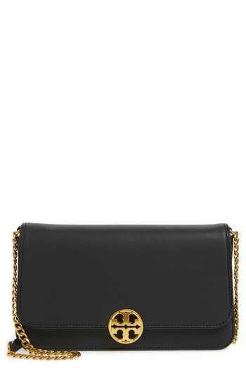 Tory Burch Chelsea Convertible Leather Clutch -