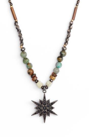 Women's Nakamol Design Star Pendant Beaded Necklace