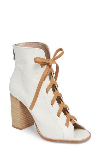 Kristin Cavallari Layton Lace-Up Boot- White