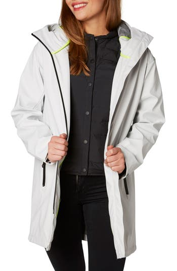 Helly Hansen Copenhagen Hooded Rain Jacket, White