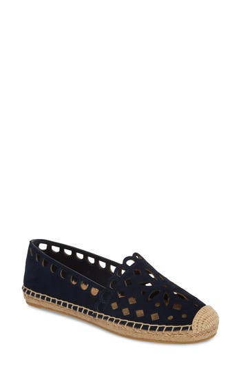 Tory Burch May Perforated Espadrille Flat, Blue