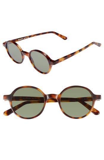 1920s Sunglasses, Round Eyeglasses | 1910s, 1930s Mens L.g.r Reunion 48Mm Sunglasses - Havana Maculato $325.00 AT vintagedancer.com