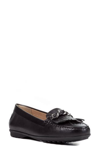 Geox Elidia Moccasin Loafer, Black