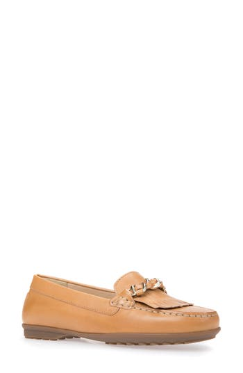 Geox Elidia Moccasin Loafer, Orange