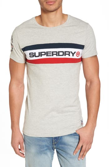 Superdry Trophy Chest Band T-Shirt, Grey