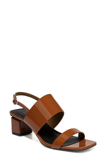 Women's Via Spiga Forte Block Heel Sandal, Size 7.5 M - Brown