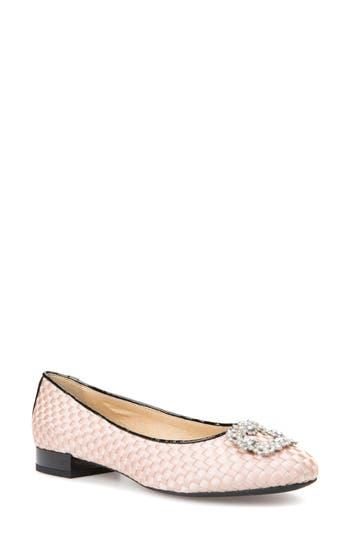 Geox Wistrey Woven Embellished Slip-On, Beige