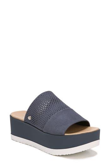 Women's Dr. Scholl's Collins Platform Sandal, Size 8 M - Blue