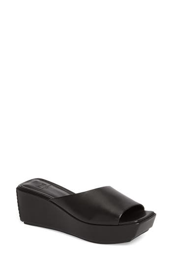 Women's Marc Fisher Ltd Yailyn Platform Slide Sandal, Size 11 M - Black