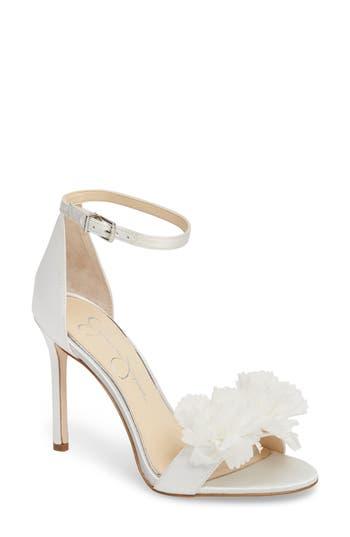Jessica Simpson Jeena Embellished Ankle Strap Sandal- White