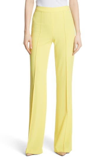 Alice + Olivia Jalisa High Waist Flared Leg Pants, Yellow