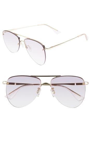 Le Specs The Prince 57Mm Aviator Sunglasses - Gold