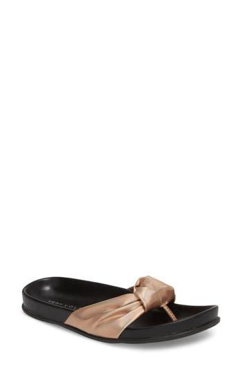Very Volatile Glaze Bow Sandal, Pink