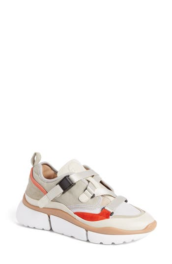 Chloe Sonnie Low Top Sneaker, Grey