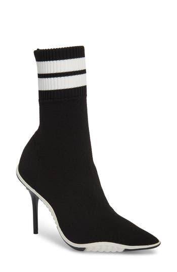 Jeffrey Campbell Goal Sock Sneaker Bootie- Black