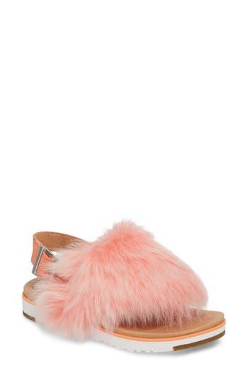Women's Ugg Holly Genuine Shearling Sandal, Size 8 M - Orange
