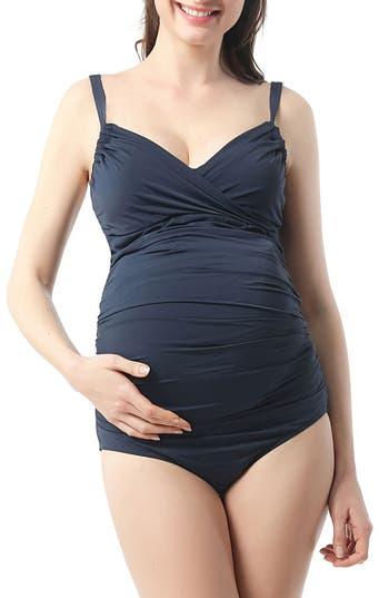Kimi And Kai Natalie One-Piece Maternity Swimsuit, Blue
