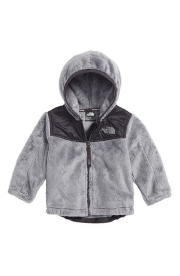 Infant The North Face Oso Fleece Hooded Jacket, Grey