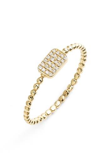 Women's Bony Levy 'Aurora' Diamond Pave Rectangle Ring (Nordstrom Exclusive)
