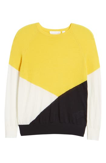 Boss Farrow Colorblock Wool Sweater, Yellow