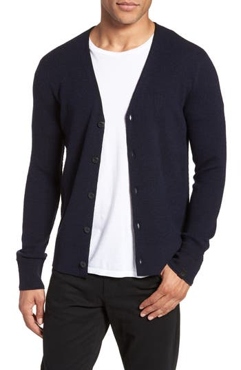 Rag & Bone Gregory Wool Blend Cardigan, Blue