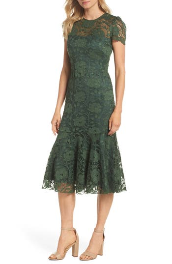 1930s Evening Dresses | Old Hollywood Dress Womens Gal Meets Glam Collection Eve Lace Midi Dress $210.00 AT vintagedancer.com