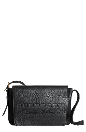 Burberry Small Burleigh Leather Crossbody Bag - Black