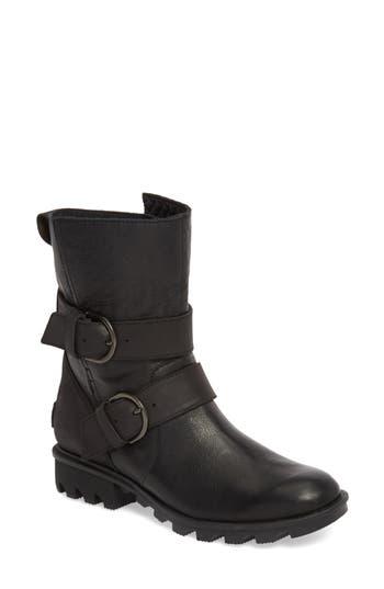 Sorel Phoenix Moto Waterproof Boot, Black